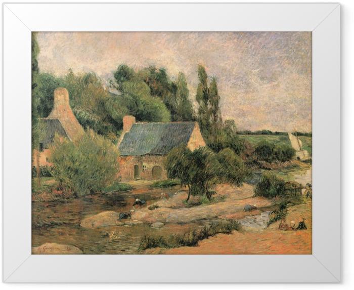 Plakat w ramie Paul Gauguin - Praczki w Pont-Aven - Reprodukcje