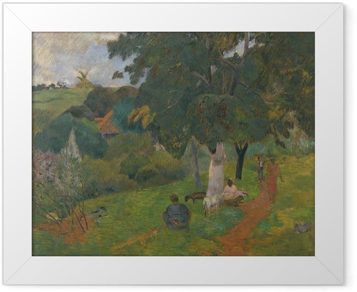 Plakat w ramie Paul Gauguin - Przychodząc i odchodząc. Martynika - Reprodukcje
