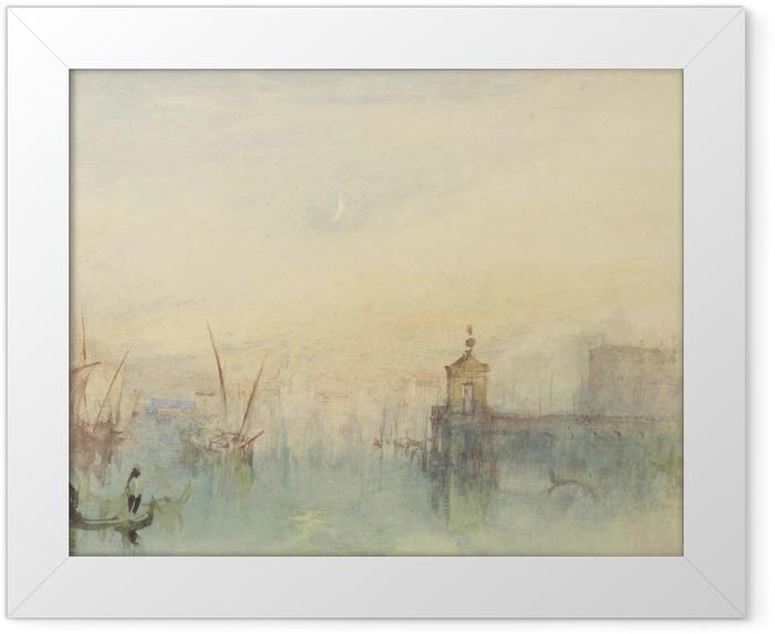 Plakat w ramie William Turner - San Giorgio Maggiore o zachodzie słońca, widziane z Hotelu Europa - Reprodukcje