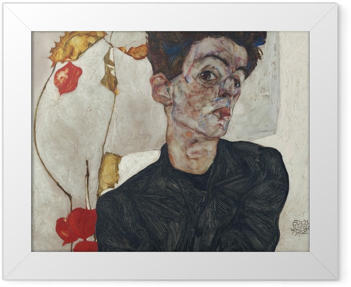 Poster en cadre Egon Schiele - Autoportrait - Reproductions