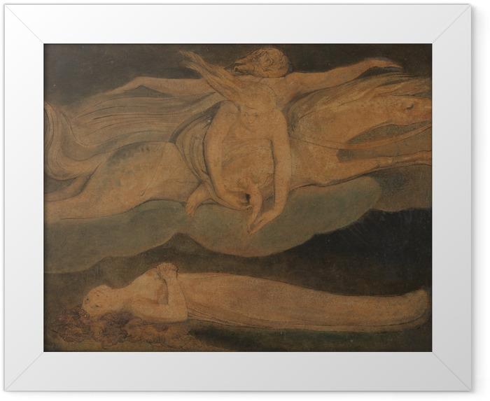 Gerahmtes Poster William Blake - Pity (Das Mitleid) - Reproduktion
