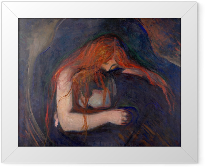 Plakat w ramie Edvard Munch - Wampir - Reprodukcje