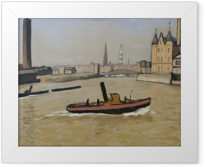 Plakat w ramie Albert Marquet - Port w Hamburgu - Reproductions