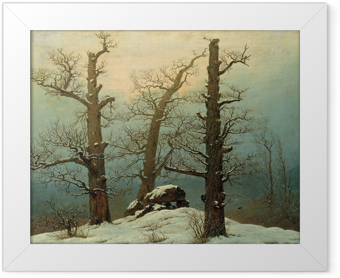 Plakat w ramie Caspar David Friedrich - Kurhan pod śniegiem - Reproductions