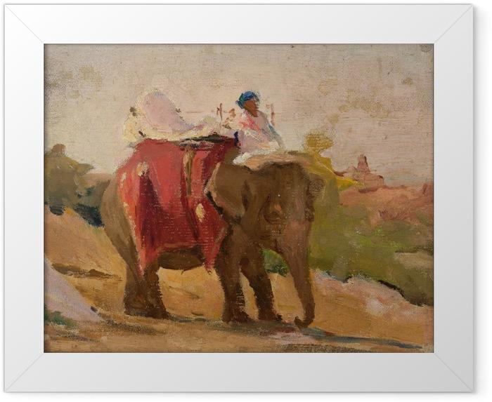 Poster en cadre Jan Ciągliński - Chittorgarh - Mon éléphant. Du voyage en Inde. - Reproductions