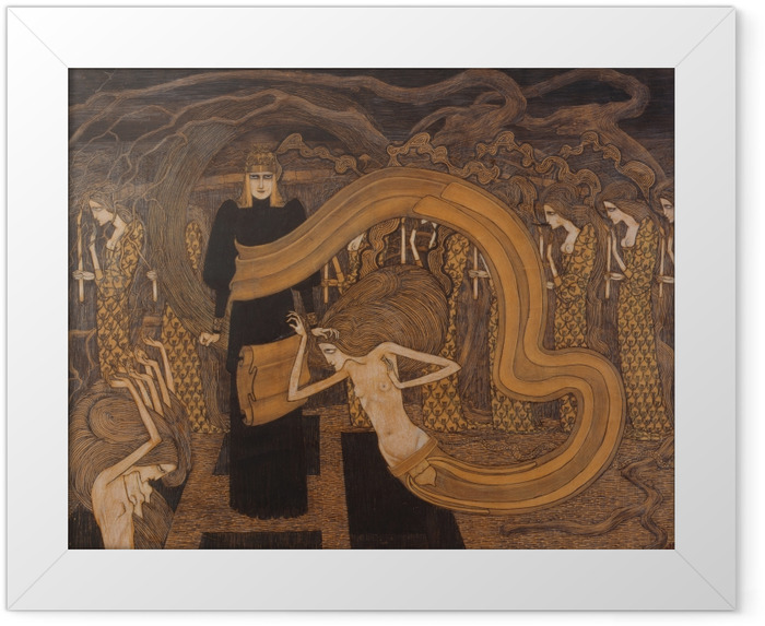 Jan Toorop - Fatalism Framed Poster - Reproductions