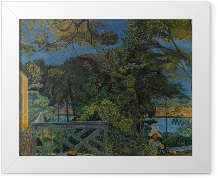 Gerahmtes Poster Pierre Bonnard - Die Terrasse in Vernon - Reproductions