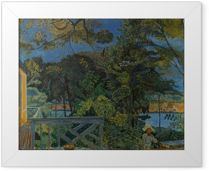 Plakat w ramie Pierre Bonnard - Taras w Vernon - Reproductions