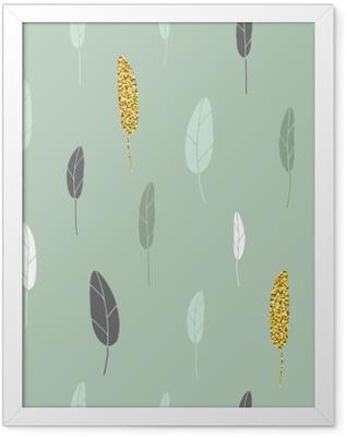 Leaf pattern. Framed Poster