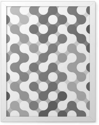 Vector geometric pattern of circles. Framed Poster