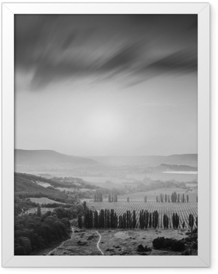 Kachinskaya valley. Black and white Framed Poster