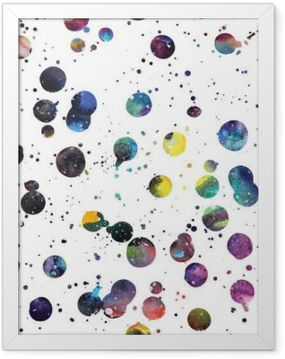 Watercolor galaxy background. Framed Poster