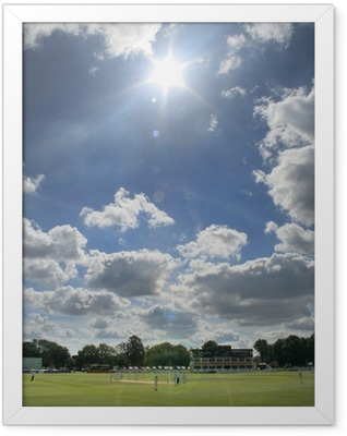 sun breaks through at cricket Framed Poster