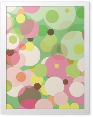Pastel Dots Framed Poster