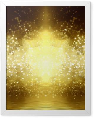 gold glitter Framed Poster