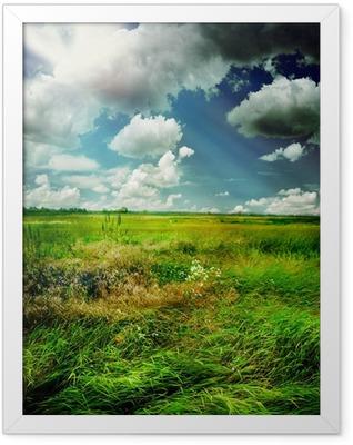 Beautiful Nature Rural Landscape Framed Poster