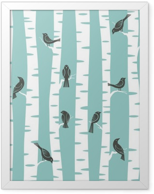 trees pattern Framed Poster