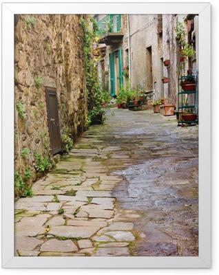 old alley Framed Poster