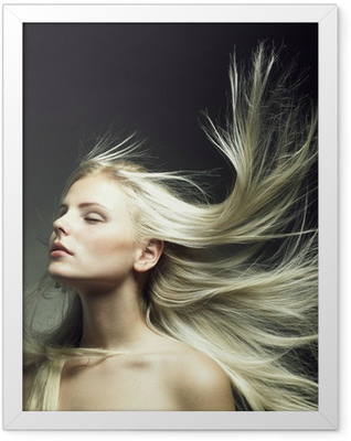Beautiful woman with magnificent hair Framed Poster