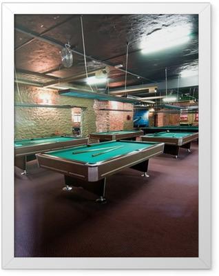Billiard room Framed Poster