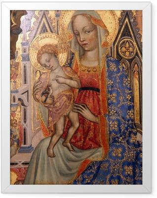 Madonna with Child Framed Poster