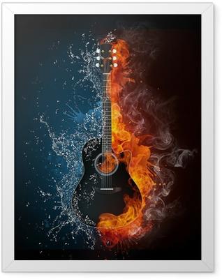 Electric Guitar Framed Poster