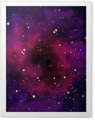 Nebula and star in the space area Framed Poster