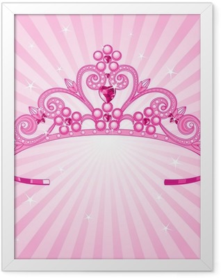 Princess Crown Framed Poster