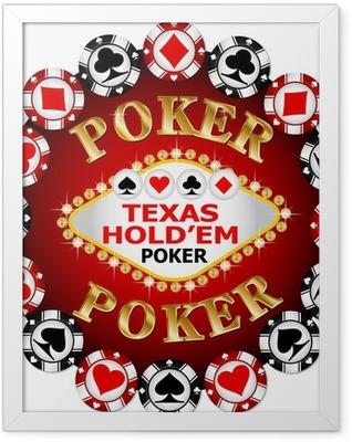 Poker chip Framed Poster
