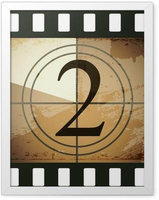 Grunge film countdown Framed Poster