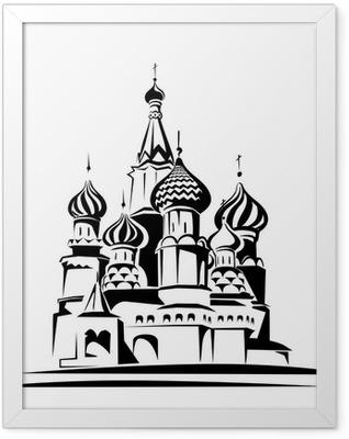 saint basil cathedral Framed Poster