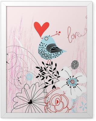 love bird Framed Poster