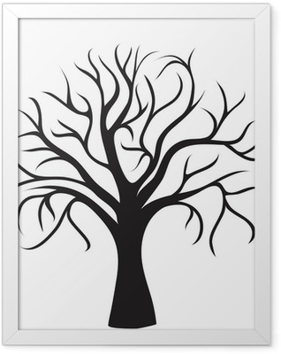 black tree without leaves Framed Poster