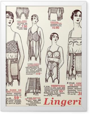lingerie 1930 Framed Poster
