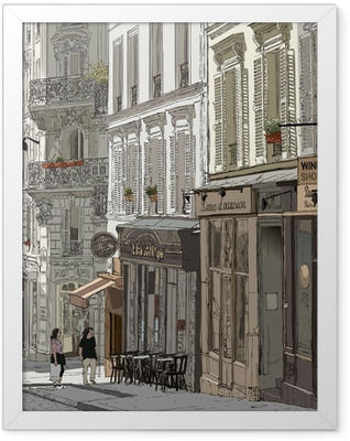 Street in Montmartre Framed Poster