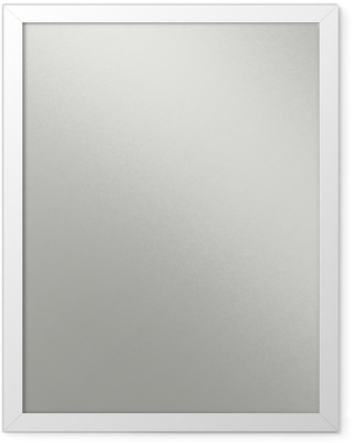 white metal texture with beam of light, smooth chrome background Framed Poster
