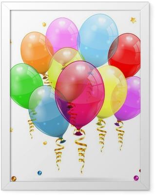 Birthday Balloons Framed Poster