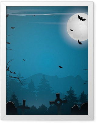 Scary Halloween background Framed Poster