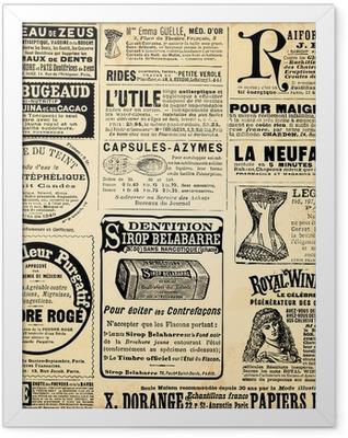 Page de pub Framed Poster