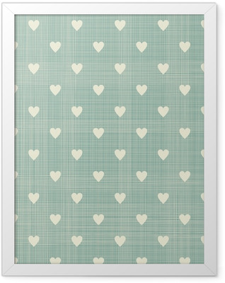 seamless hearts pattern Framed Poster