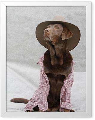 verkleideter Labrador Framed Poster