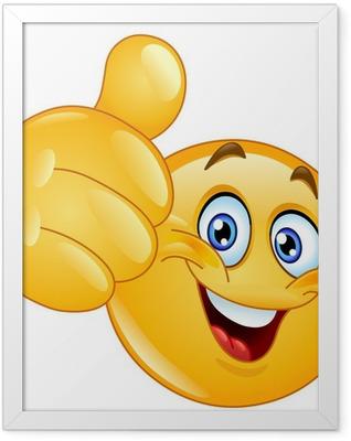 Thumb up emoticon Framed Poster