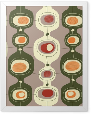 Seamless vintage pattern - Vector. Framed Poster