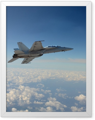 Jetfighter in flight Framed Poster