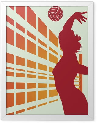 Volleyball Framed Poster