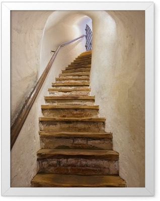 Stairs in Castle Kufstein - Austria Framed Poster