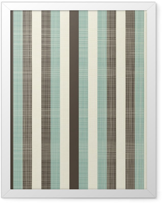 retro geometric abstract background with fabric texture Framed Poster