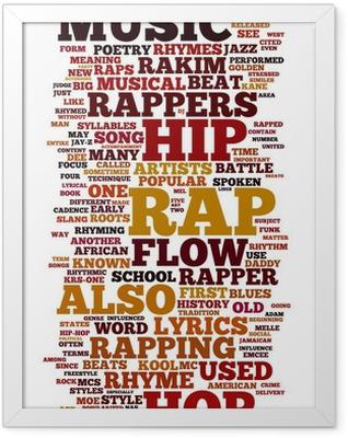 Rap and Hip Hop Music Framed Poster