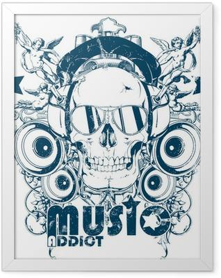 Music addict Framed Poster