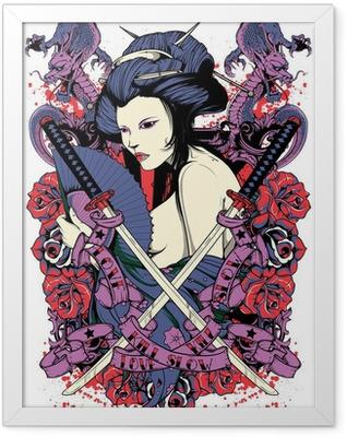 Samurai diva Framed Poster
